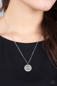 Paparazzi Jewelry & Accessories - Freedom Isn't Free - Silver Patriotic Necklace.  Bling By Titia Boutique