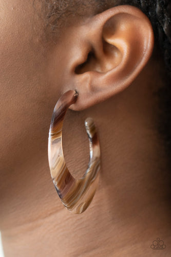 Paparazzi Jewelry & Accessories - Retro Renaissance - Brown Earrings. Bling By Titia Boutique