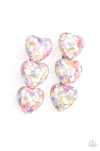 Paparazzi Jewelry & Accessories - Heart Full of Confetti - Multi Hair Clip. Bling By Titia Boutique