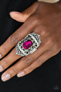 Paparazzi Jewelry & Accessories - Undefinable Dazzle - Pink Ring. Bling By Titia Boutique