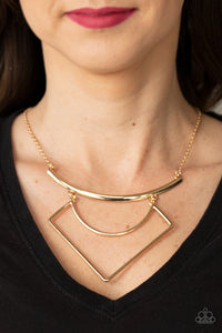 Paparazzi Jewelry & Accessories - Egyptian Edge - Gold Necklace. Bling By Titia Boutique