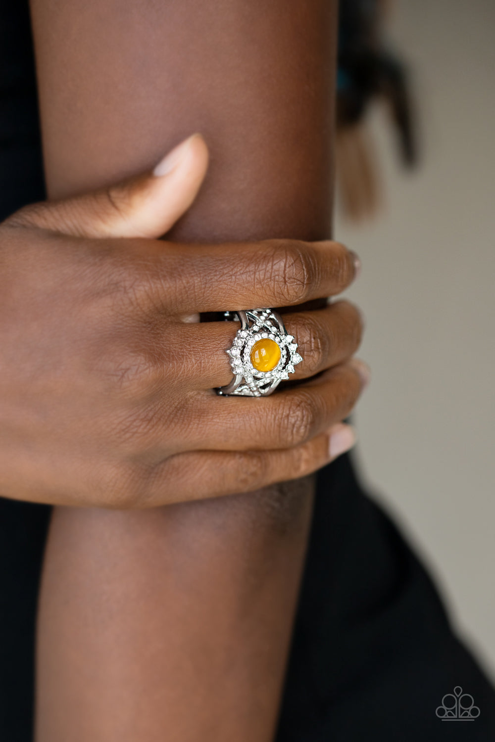 Paparazzi Jewelry & Accessories - Decadently Dreamy - Yellow Ring. Bling By Titia Boutique