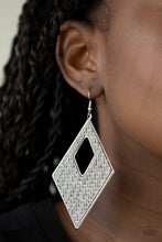Load image into Gallery viewer, Paparazzi Jewelry & Accessories - Woven Wanderer - Silver Earrings. Bling By Titia Boutique