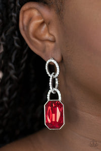 Paparazzi Jewelry & Accessories - Superstar Status - Red Earrings. Bling By Titia Boutique