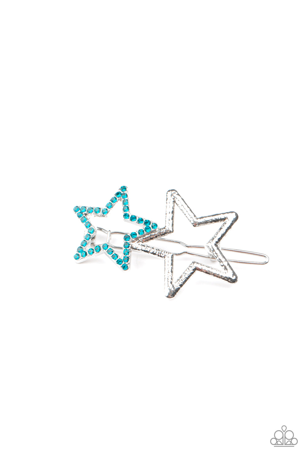 Paparazzi Jewelry & Accessories - Lets Get This Party STAR-ted! - Blue Hair Clip. Bling By Titia Boutique