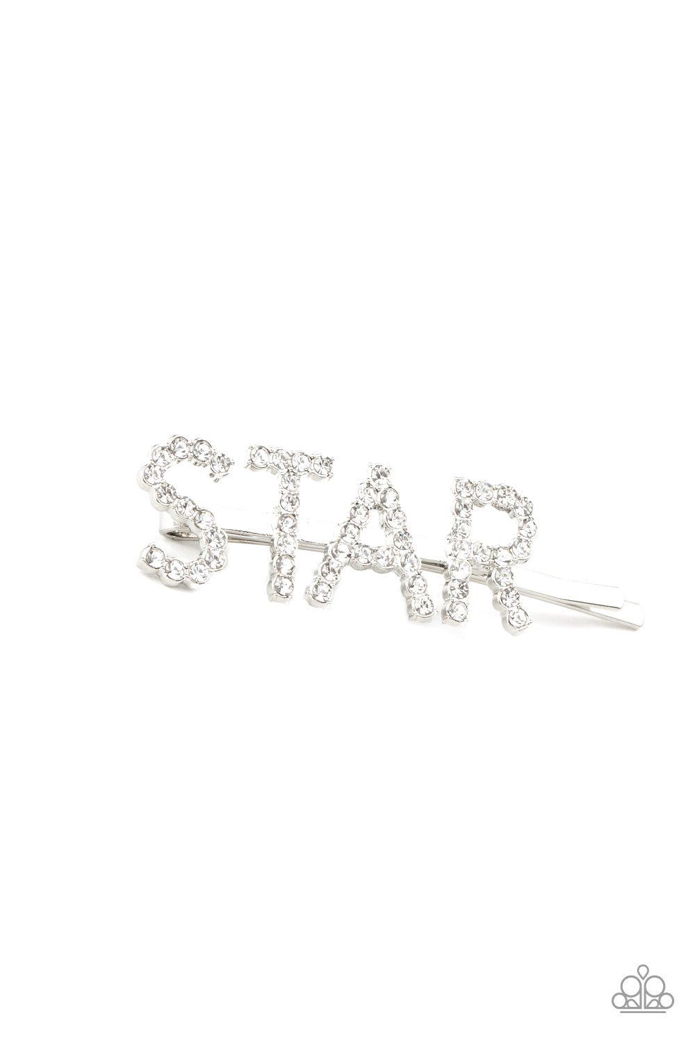Paparazzi Jewelry & Accessories - Star In Your Own Show - White Hair Clip. Bling By Titia Boutique