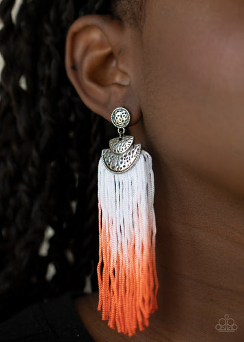 Paparazzi Jewelry & Accessories - Dip It Up - Orange Earrings. Bling By Titia Boutique