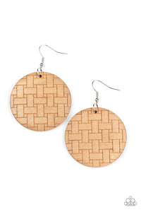Paparazzi Jewelry & Accessories - Natural Novelty - Brown Earrings. Bling By Titia Boutique