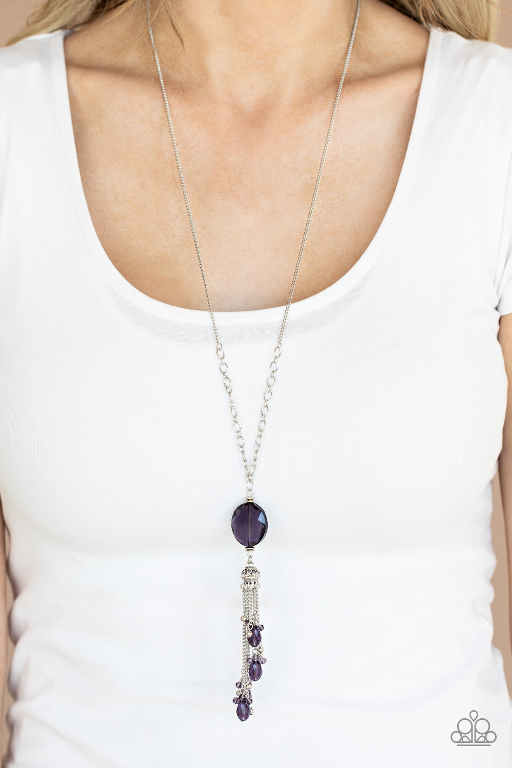 Paparazzi Jewelry & Accessories - Fringe Flavor - Purple Necklace. Bling By Titia Boutique