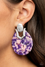 Load image into Gallery viewer, Paparazzi Jewelry & Accessories - HAUTE Flash - Purple Earrings. Bling By Titia Boutique