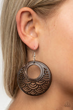 Load image into Gallery viewer, Paparazzi Jewelry & Accessories - Tropical Canopy - Brown Earrings. Bling By Titia Boutique