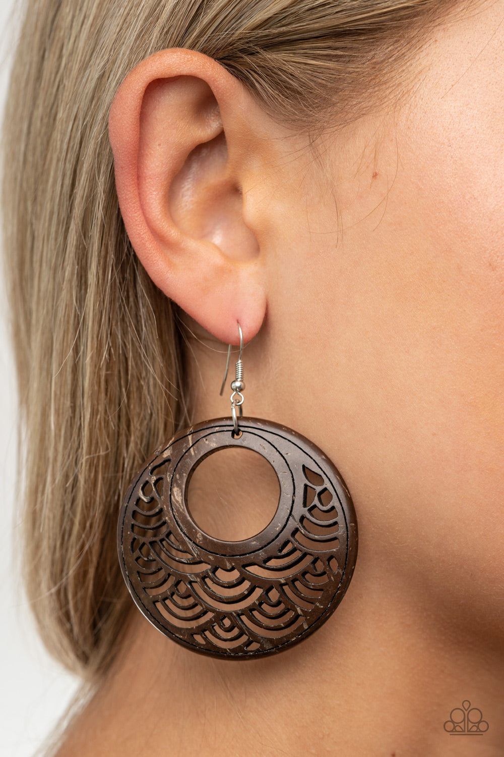 Paparazzi Jewelry & Accessories - Tropical Canopy - Brown Earrings. Bling By Titia Boutique