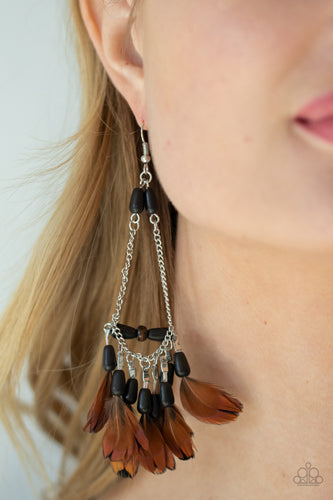 Paparazzi Jewelry & Accessories - Haute Hawk - Black Earrings. Bling By Titia Boutique