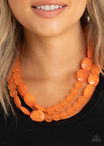 Paparazzi Jewelry & Accessories - Arctic Art - Orange Necklace. Bling By Titia Boutique