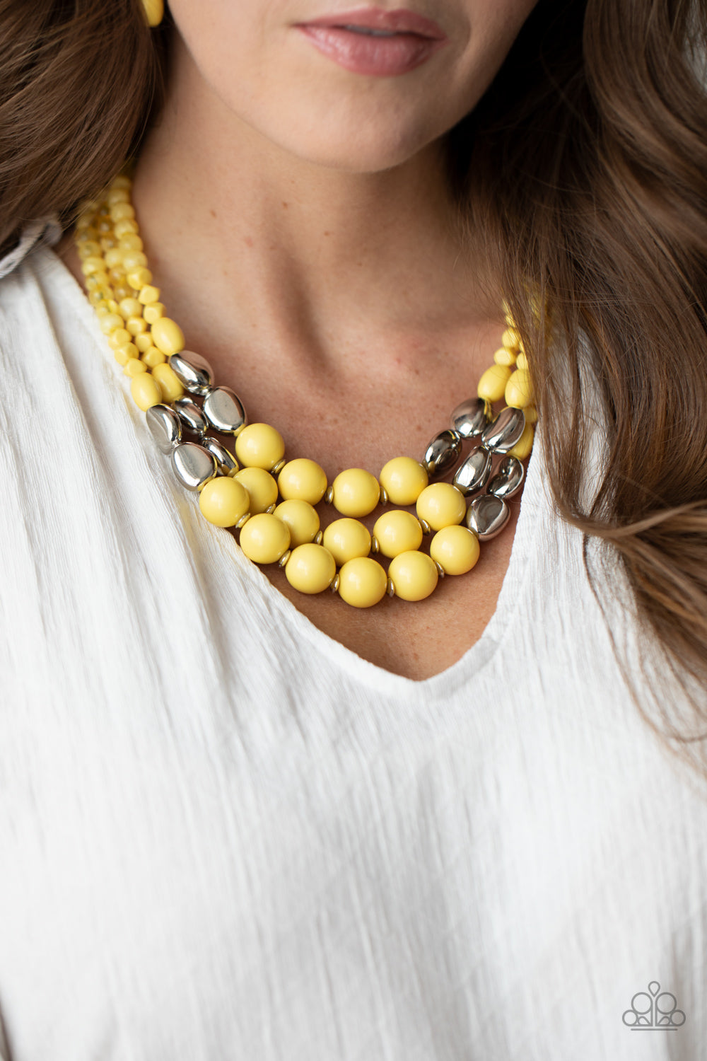 Paparazzi Jewelry & Accessories - Flamingo Flamboyance - Yellow Necklace. Bling By Titia Boutique