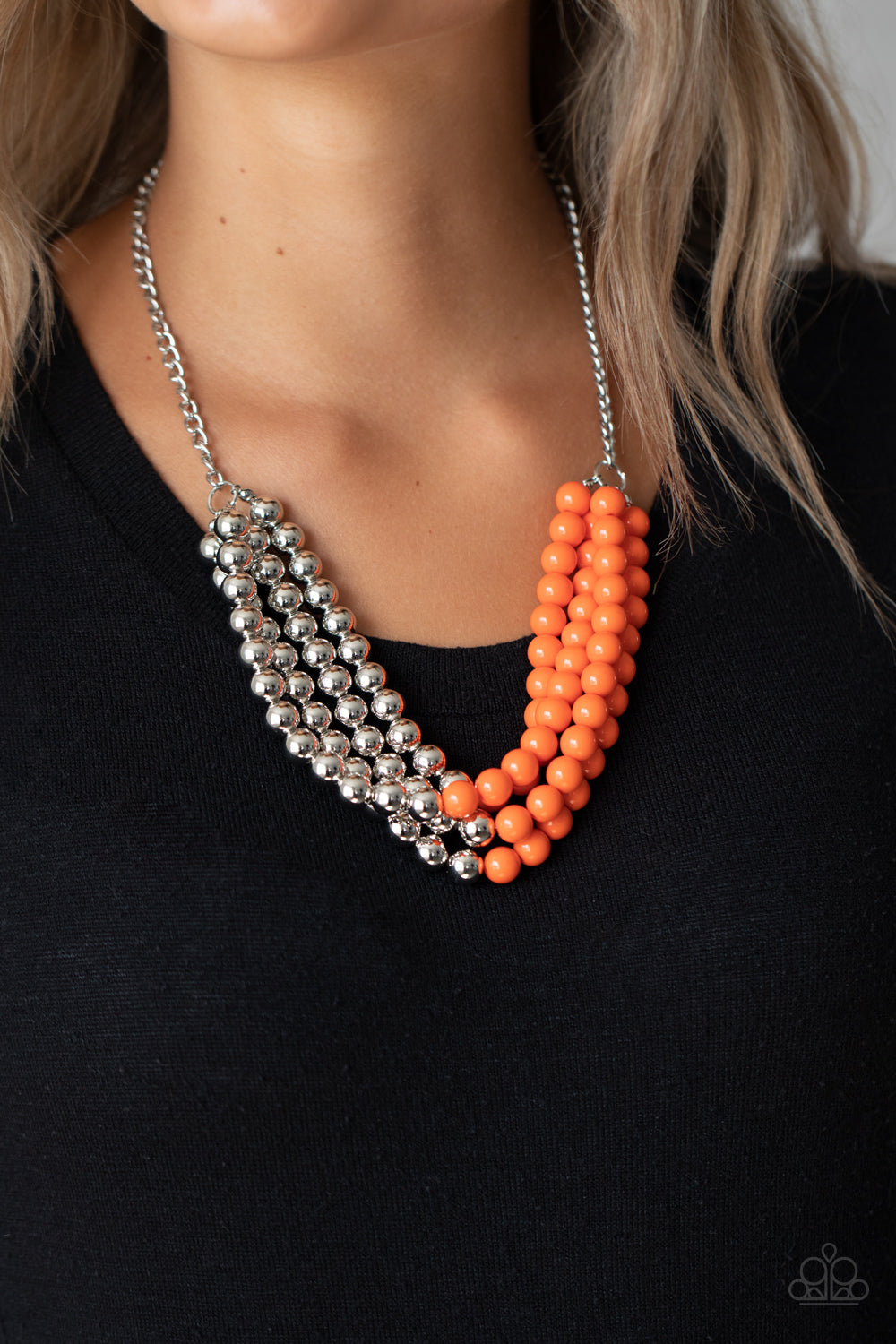 Paparazzi Jewelry & Accessories - Layer After Layer - Orange Necklace. Bling By Titia Boutique