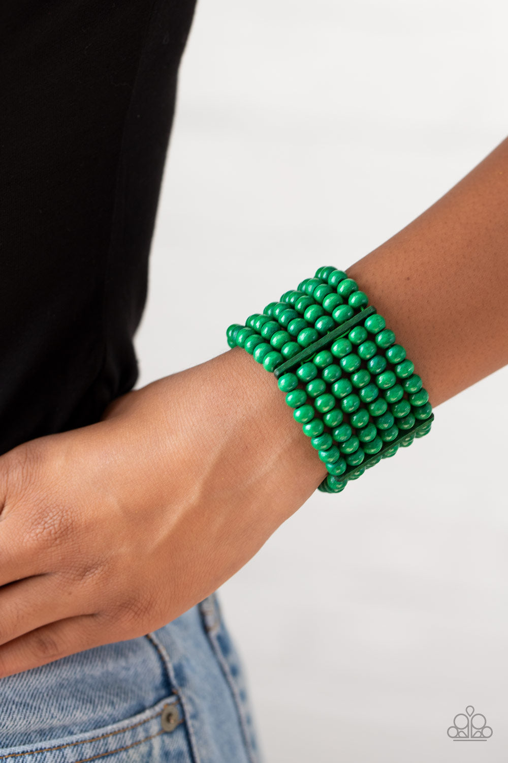 Paparazzi Jewelry & Accessories - Tanning in Tanzania - Green Bracelet. Bling By Titia Boutique