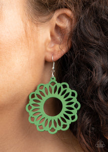 Paparazzi Jewelry & Accessories - Dominican Daisy - Green Earrings. Bling By Titia Boutique