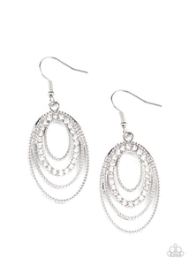 Paparazzi Jewelry & Accessories - Date Night Diva - White Earrings. Bling By Titia Boutique