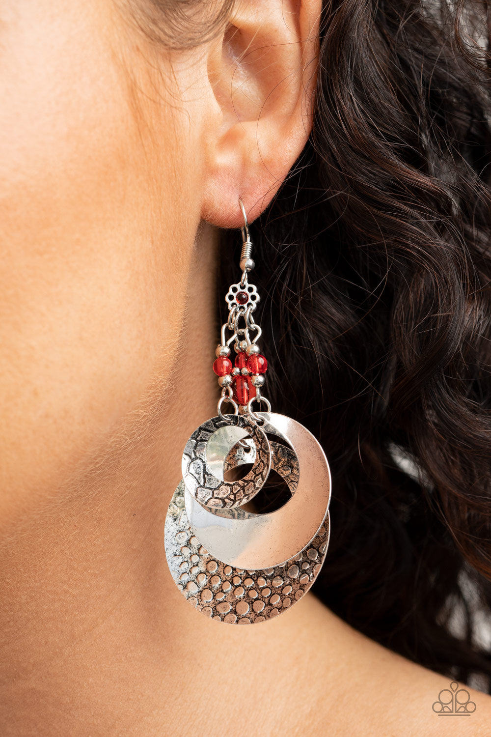 Paparazzi Jewelry & Accessories - Wonderlust Garden - Red Earrings. Bling By Titia Boutique