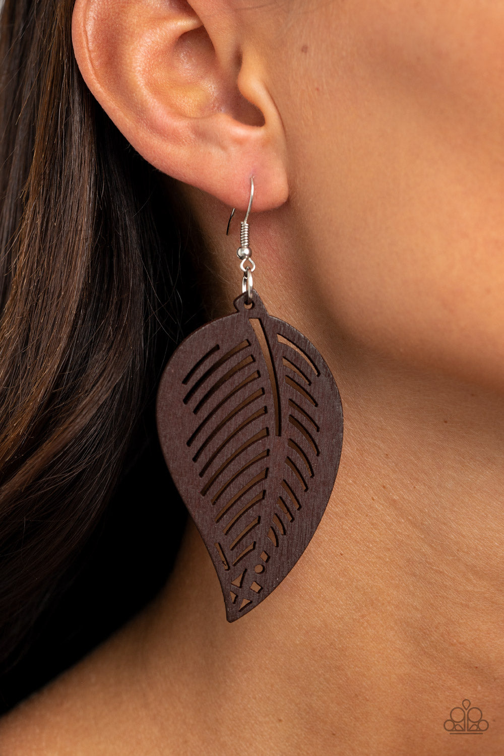 Paparazzi Jewelry & Accessories - Tropical Foliage - Brown Earrings. Bling By Titia Boutique