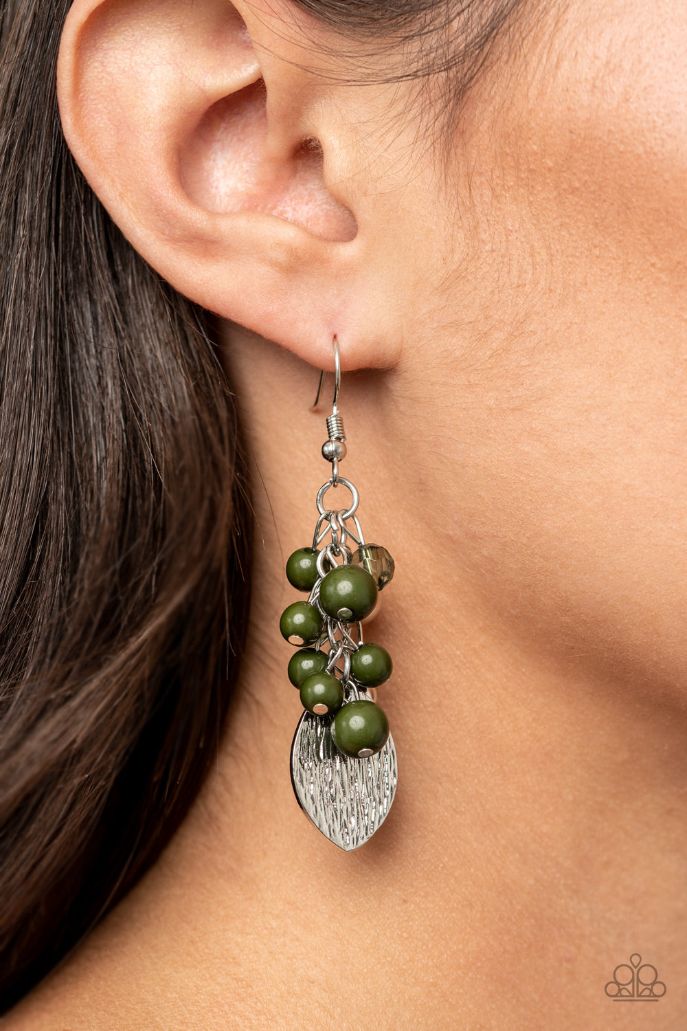 Paparazzi Jewelry & Accessories - Fruity Finesse - Green Earrings. Bling By Titia Boutique