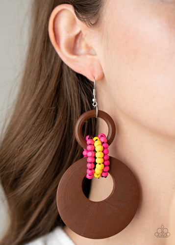Paparazzi Jewelry & Accessories - Beach Day Drama - Multi Earrings. Bling By Titia Boutique