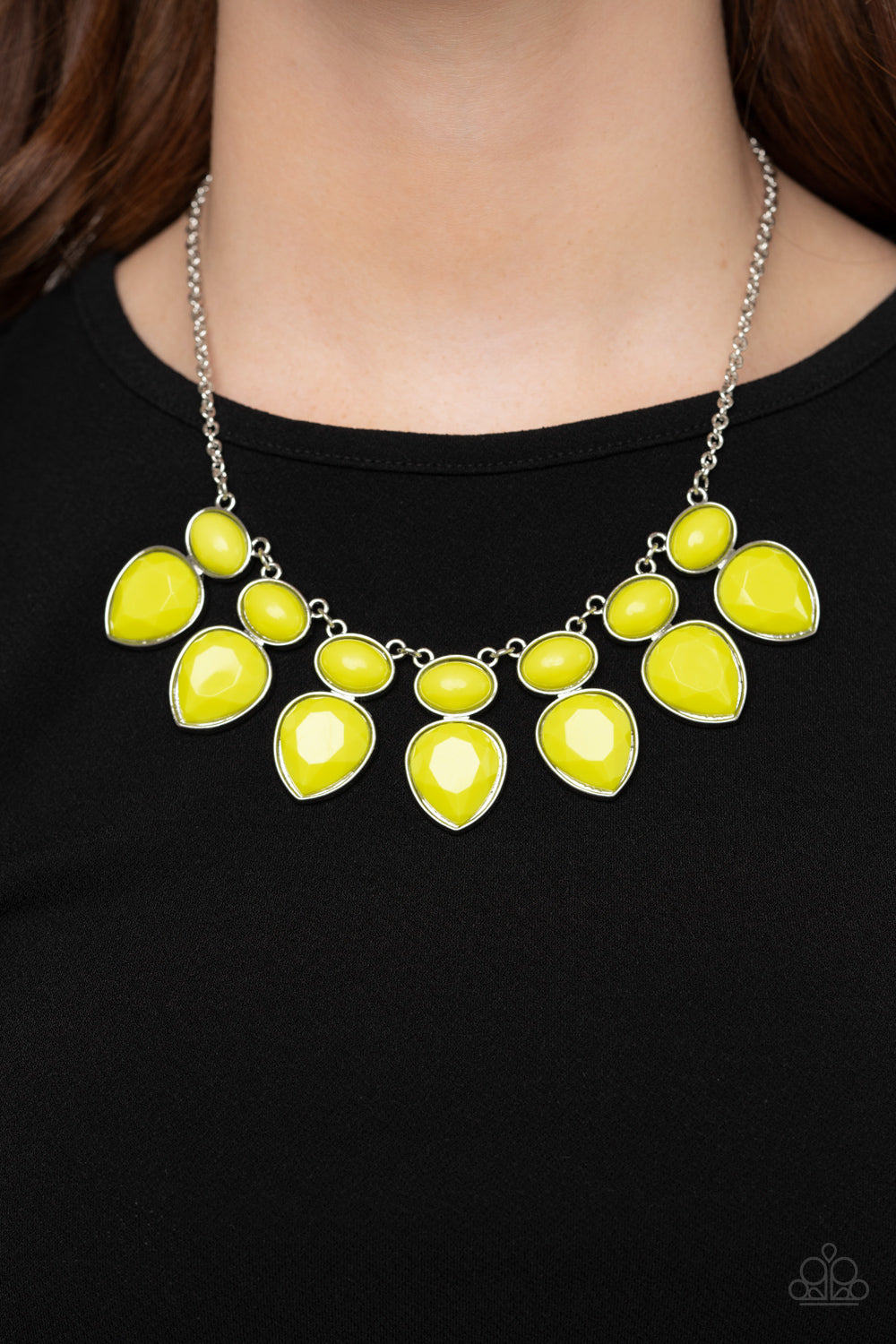 Paparazzi Jewelry & Accessories - Modern Masquerade - Yellow Necklace. Bling By Titia Boutique