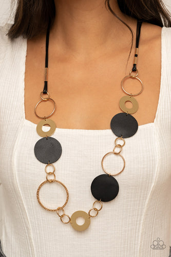 Paparazzi Jewelry & Accessories - Sooner or LEATHER - Black Necklace. Bling By Titia Boutique