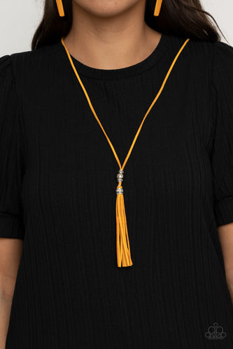 Paparazzi Jewelry & Accessories - Hold My Tassel - Yellow Necklace. Bling By Titia Boutique