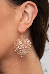 Paparazzi Jewelry & Accessories - Let Your Heart Grow - Rose Gold Earrings. Bling By Titia Boutique