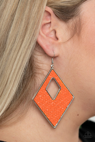 Paparazzi Jewelry & Accessories - Woven Wanderer - Orange Earrings. Bling By Titia Boutique