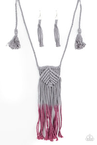 Paparazzi Jewelry & Accessories - Look at MACRAME Now - Purple Necklace. Bling By Titia Boutique