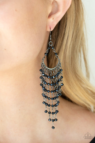 Paparazzi Jewelry & Accessories - Metro Confetti - Blue Earrings. Bling By Titia Boutique