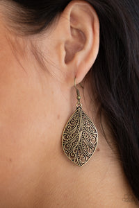 Paparazzi Jewelry & Accessories - One Vine Day - Brass Earrings. Bling By Titia Boutique