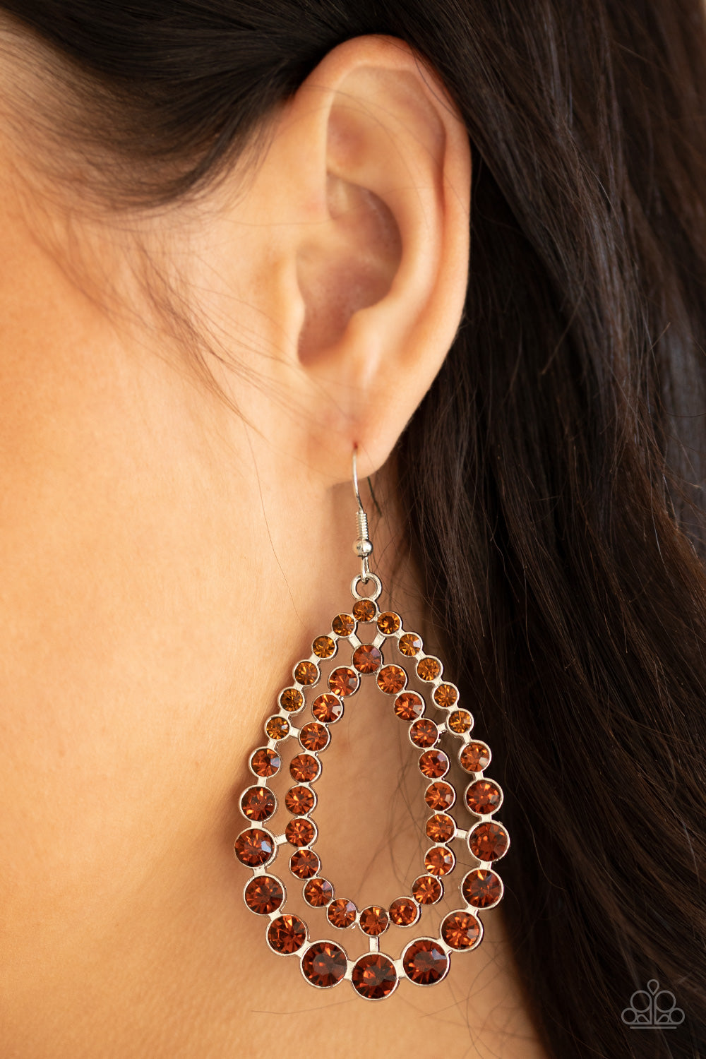 Paparazzi Jewelry & Accessories - Glacial Glaze - Brown Earrings. Bling By Titia Boutique