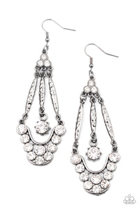 Paparazzi Jewelry & Accessories - High-Ranking Radiance - Black Earrings. Bling By Titia Boutique