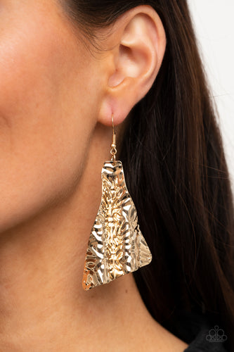 Paparazzi Jewelry & Accessories - How FLARE You! - Gold Earrings. Bling By Titia Boutique