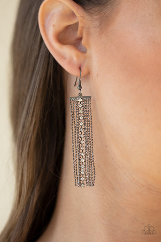 Paparazzi Jewelry & Accessories - Another Day, Another DRAMA - Black Earrings. Bling By Titia Boutique