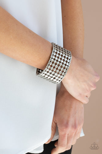 Paparazzi Jewelry & Accessories - Cool and CONNECTED - Silver Bracelet. Bling By Titia Boutique