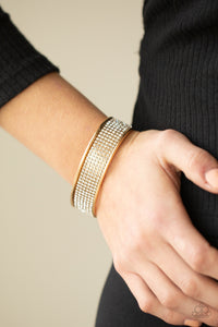 Paparazzi Jewelry & Accessories - Cant Believe Your Ice - Gold Bracelet. Bling By Titia Boutique