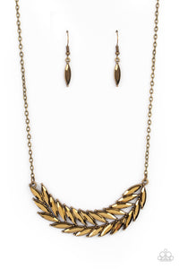 Paparazzi Jewelry & Accessories - Flight of FANCINESS - Brass Necklace. Bling By Titia Boutique