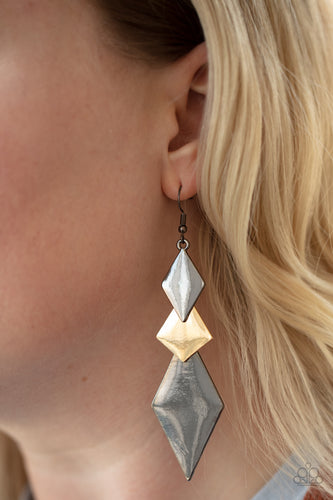 Paparazzi Jewelry & Accessories - Danger Ahead - Multi Earrings. Bling By Titia Boutique
