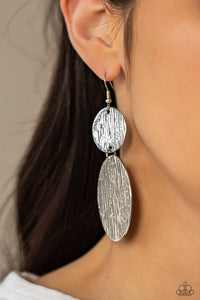 Paparazzi Jewelry & Accessories - Status Cymbal - Silver Earrings. Bling By Titia Boutique