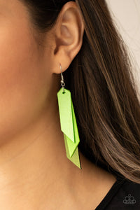 Paparazzi Jewelry & Accessories - Suede Shade - Green Earrings. Bling By Titia Boutique