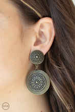 Load image into Gallery viewer, Paparazzi Jewelry & Accessories - Magnificent Medallions - Brass Clip-on Earrings. Bling By Titia