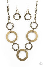 Load image into Gallery viewer, Paparazzi Jewelry & Accessories - Ringed In Radiance - Brass Necklace. Bling By Titia Boutique