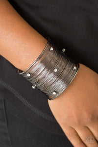 Paparazzi Jewelry & Accessories - Professional Prima Donna - Black Cuff Bracelet. Bling By Titia Boutique