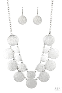 Paparazzi Jewelry & Accessories - Stop And Reflect - Silver Necklace. Bling By Titia Boutique