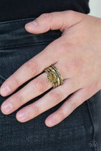 Load image into Gallery viewer, Paparazzi Jewelry & Accessories - Modern Maven - Brass Ring.  Bling By Titia Boutique
